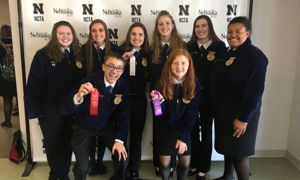 FFA Competes at District LDE in Curtis