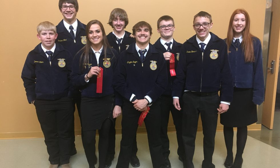 FFA Competes in District CDE at Curtis